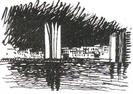 Croquis Concurso para un conjunto de torres en Puerto Madero. Mención.
