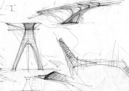 Primeras Ideas Puente peatonal A. Illia. Mar del Plata