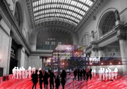 Croquis+foto. Central Station Chicago 2020.